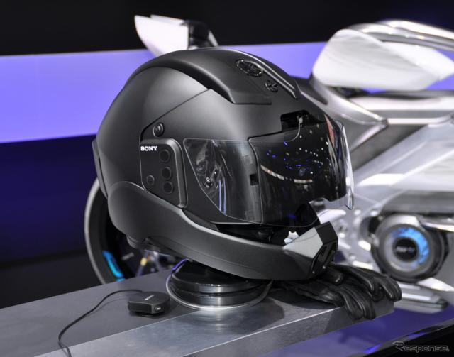 ヤマハ発動機がソニーを共同開発中のヘルメット《撮影 山田清志》