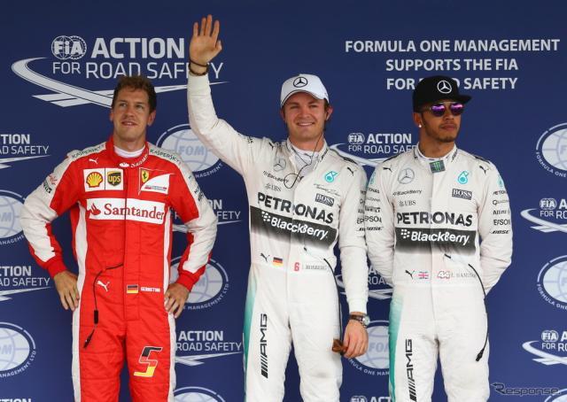 F1メキシコGP予選はニコ・ロズベルグがポールポジションを獲得《画像 Getty Images》