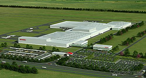 HAB 新四輪工場完成時イメージ図《提供 ホンダ》