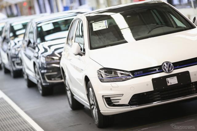 VW ゴルフ GTE の生産ライン(参考画像)《写真 Getty Images》