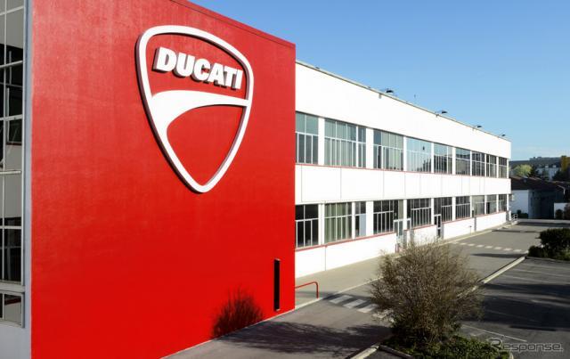 ドゥカティの工場