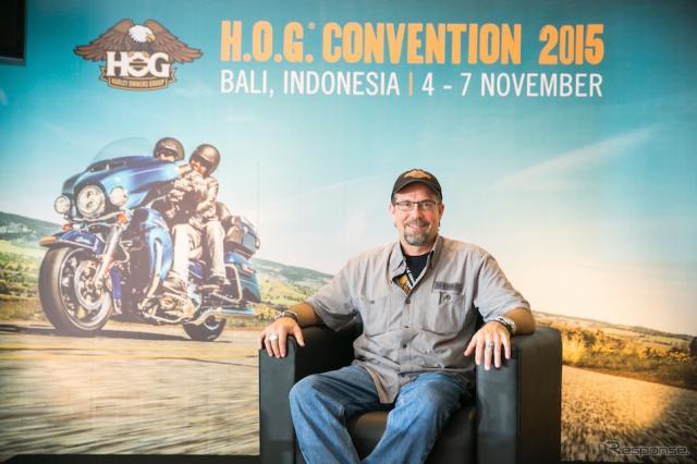 ハーレーダビッドソン・シニアバイスプレジデント ビル・ダビッドソン氏。インドネシア・バリにて《撮影 伊勢 悟/ハーレーダビッドソンジャパン》