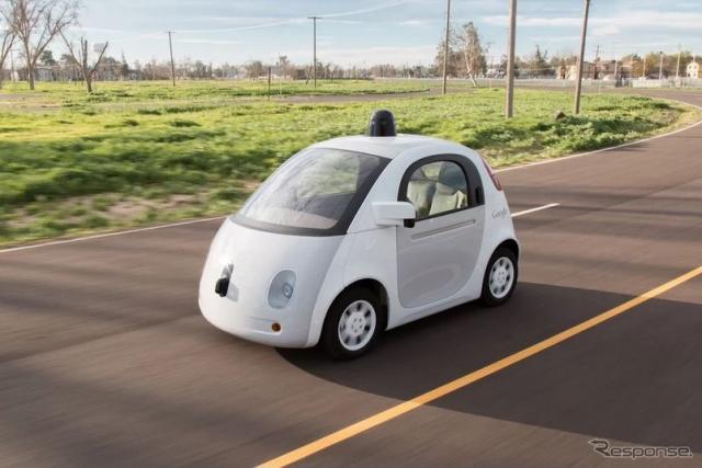 グーグルが自社開発した自動運転車の最新プロトタイプ