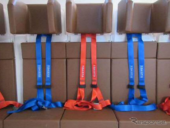 救命艇専用4点式シートベルト