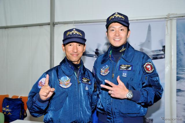 春山3佐(左)と上原2尉(右)《撮影 雪岡直樹》