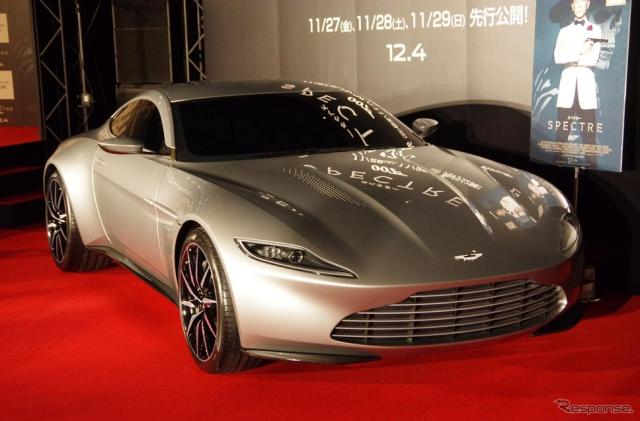 『007 スペクター』にボンドカーとして登場するアストンマーティン DB10《撮影 宮崎壮人》