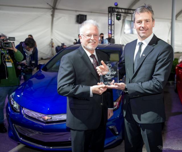 グリーンカーオブザイヤーを受賞した新型シボレー ボルト(ロサンゼルスモーターショー15)