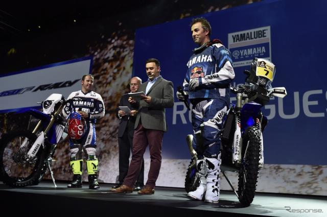ヤマハはイタリア・ミラノショーにて、ダカールラリー参戦ライダーを発表。《画像 ヨーロッパ ヤマハ 》
