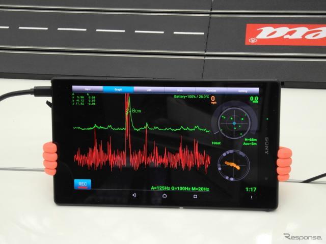 バンプレコーダーが開発したスマートフォン道路凹凸計測システム《撮影 山田清志》