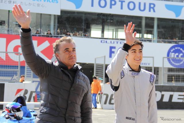 ジャン・アレジ氏(左)とジュリアーノ・アレジ(右) (2015 モータースポーツファン感謝デー)《撮影 吉田知弘》