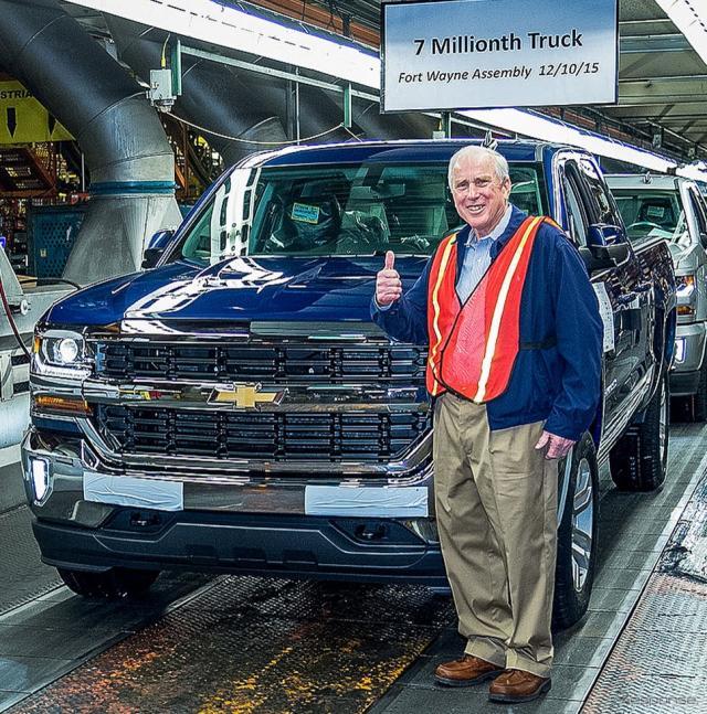 累計生産700万台を達成したGMの米国インディアナ州フォートウェイン工場