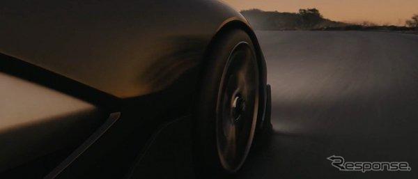 米国のFaraday Future社のEVコンセプトカーの予告イメージ