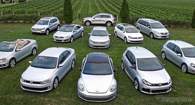 米国で幅広い車種にターボディーゼルの「TDI」を設定するフォルクスワーゲン(参考画像)(参考画像)