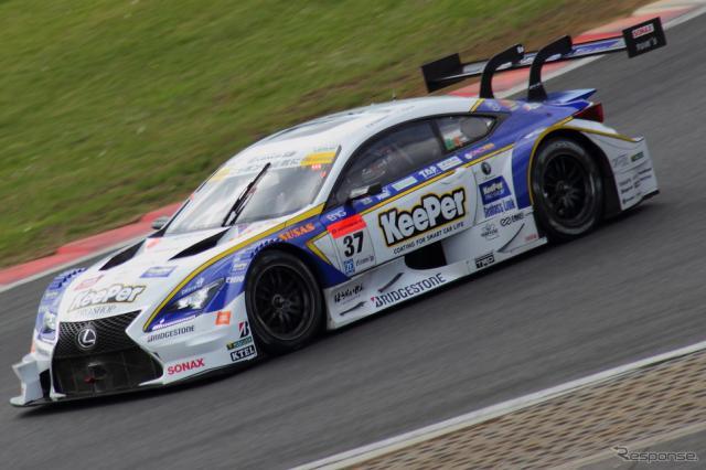 東京オートサロン2016、TOM'Sブースに登場するSUPER GTのレクサス『RC F』《撮影 吉田 知弘》