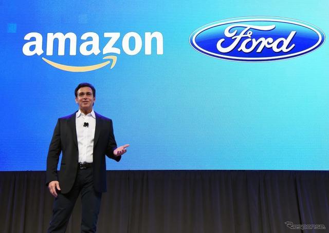 フォード、アマゾンと提携…車を音声で遠隔操作(CES16)《写真 Getty Images》