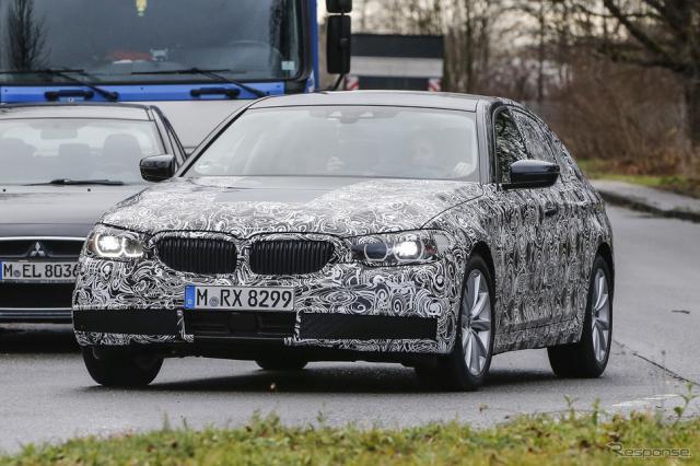 BMW 5シリーズ スクープ写真《APOLLO NEWS SERVICE》