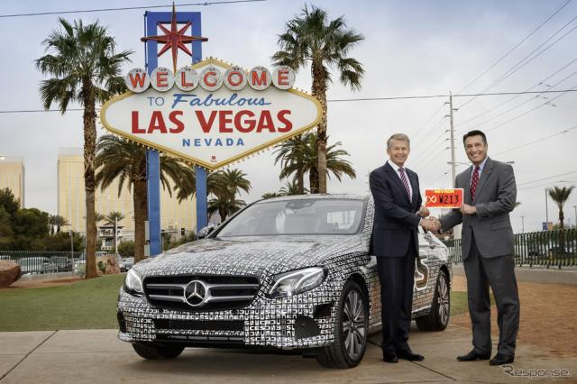 米国ネバダ州から自動運転車の公道テストを許可された新型メルセデスベンツEクラス