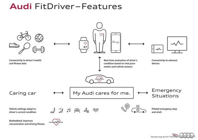 アウディのフィット ドライバープロジェクトのイメージ図