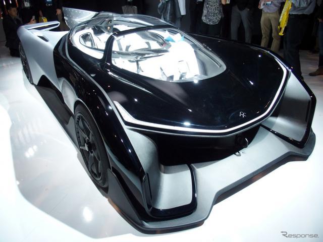 シングルシーターのコンセプト EV 「 FF ZERO 1」《撮影 会田肇》