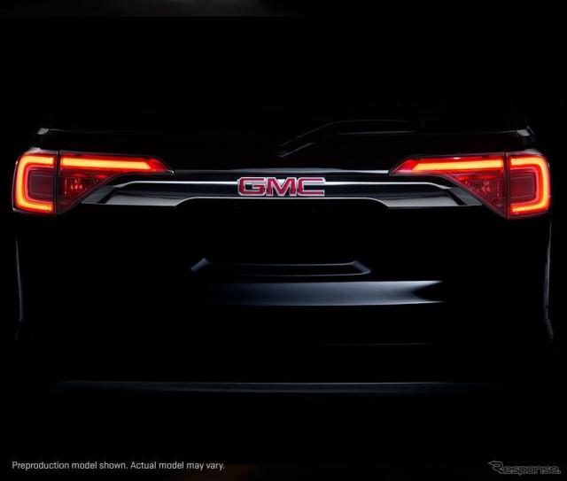 GMCの新型車の予告イメージ