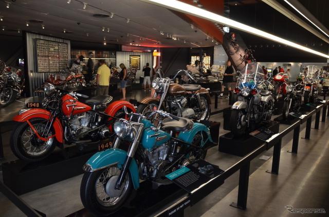 米国ウィスコンシン州ミルウォーキーにあるハーレーダビッドソンミュージアム《撮影 青木タカオ》