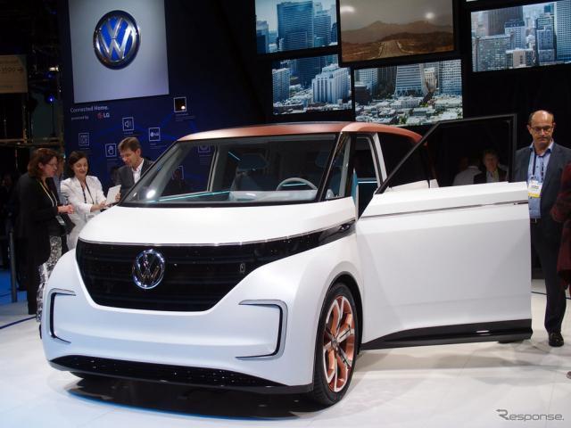 VWの次世代EVの方向性を示すものとして披露された「BUDD-e」