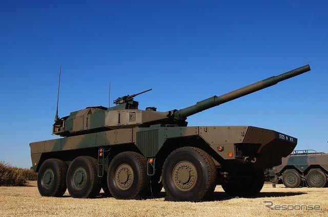 初めて一般に公開された「機動戦闘車」《撮影 石田真一》