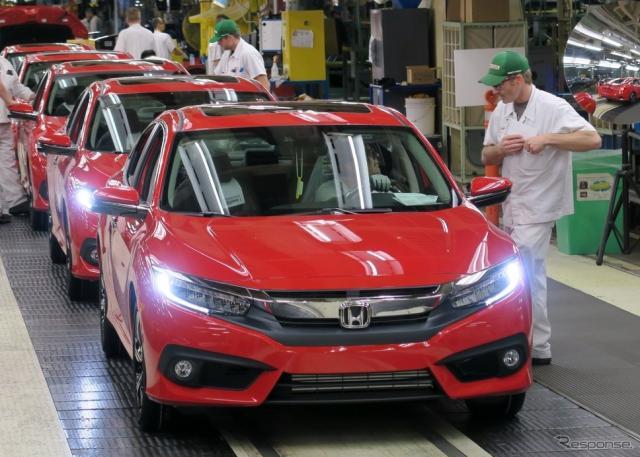 カナダのHCMで量産が開始された新型 ホンダ シビック セダン