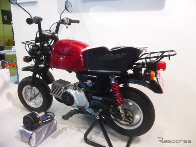 ミツバ(群馬県桐生市)はバイクやカートのEV化を提案(オートモーティブワールド2016/東京ビッグサイト/2016年1月13日)《撮影 大野雅人(Gazin Ailines)》