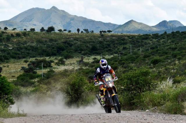 ダカールラリー2016 モト部門優勝、トビー・プライス(KTM)。画像提供 KTM JAPAN