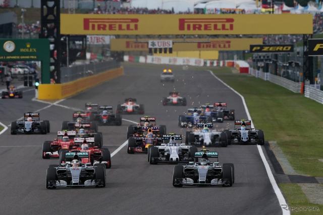 F1日本GP 2015年スタートシーン