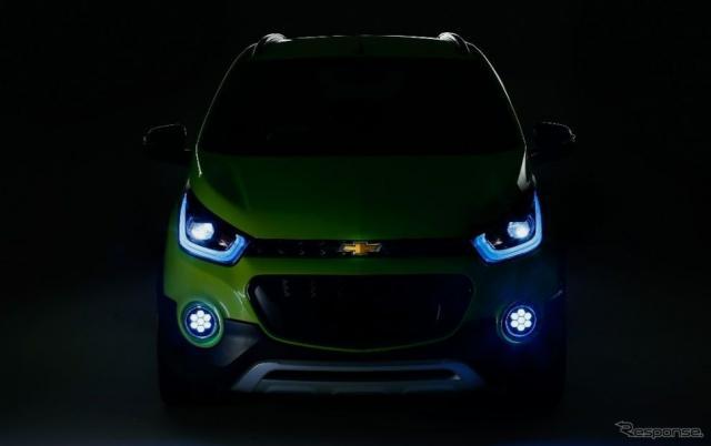 シボレーの新コンセプトカーの予告イメージ