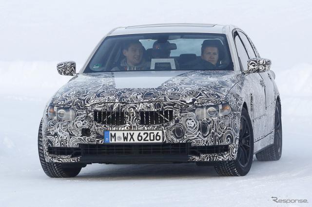BMW 3シリーズ 次期型スクープ写真《APOLLO NEWS SERVICE》