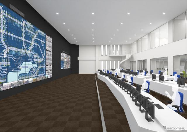 国内最高水準の耐震基準を採用し、機器免震を施す東日本高速関東支社新管制センター完成図《提供=東日本高速》
