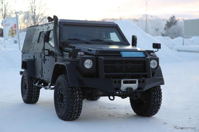 メルセデスベンツ LAPV(Light Armored Patrol Vehicle)スクープ写真《APOLLO NEWS SERVICE》