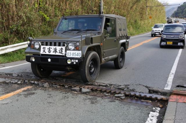 熊本地震での災害派遣(c) Getty Images