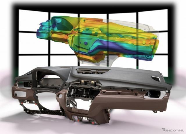 自動車内装用ポリウレタンシステムの発泡シミュレーション