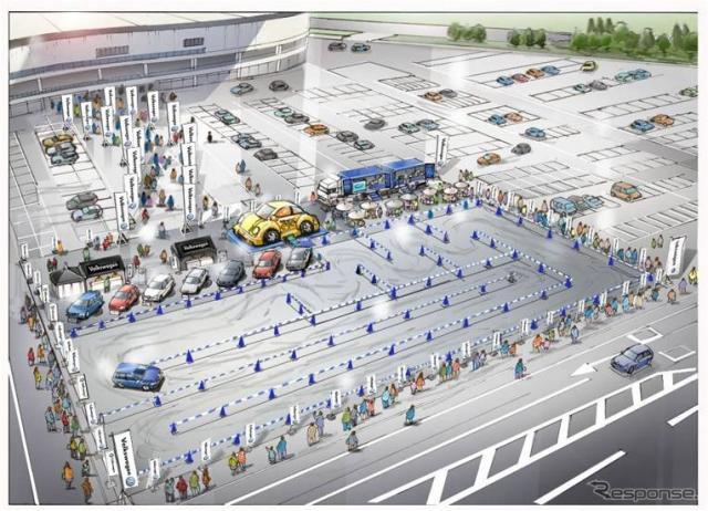 """移動式ショールーム"""" 「Volkswagen Experience Park」イメージ"""