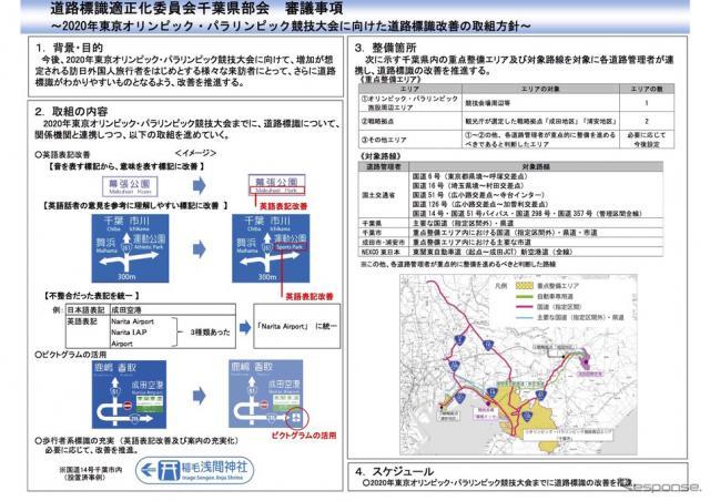 千葉県の道路標識改善《画像 国土交通省》
