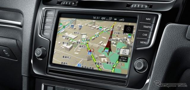 VW純正インフォテイメントシステム ディスカバープロ(参考画像)