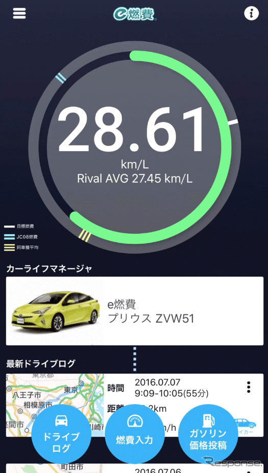 e燃費アプリ