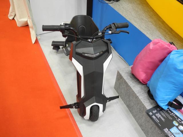 フロントラインが展示した電動ドリフト3輪車「ドリフトトライク」《撮影 山田清志》