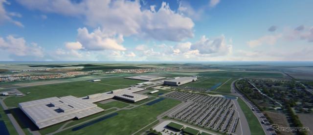 ジャガー・ランドローバーのスロバキア工場完成予想図