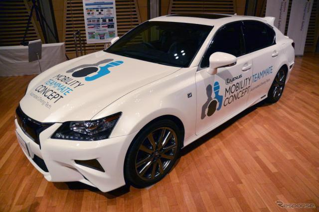 トヨタ 自動運転技術実験車両(資料画像)《撮影 小松哲也》