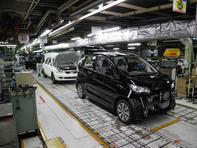 三菱自動車の水島製作所(資料画像)《撮影 山田清志》