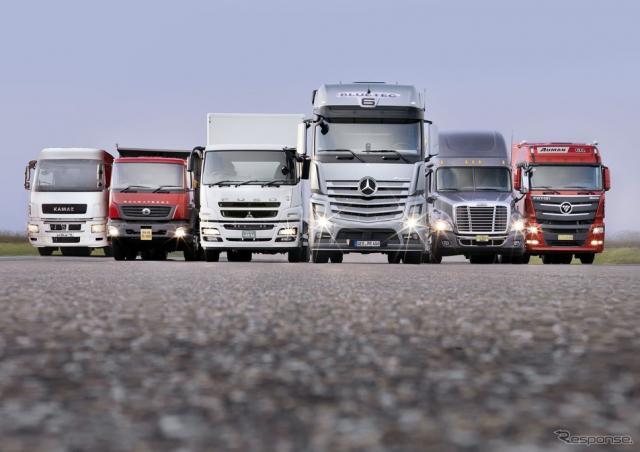 ダイムラーグループの大型トラック(参考画像)