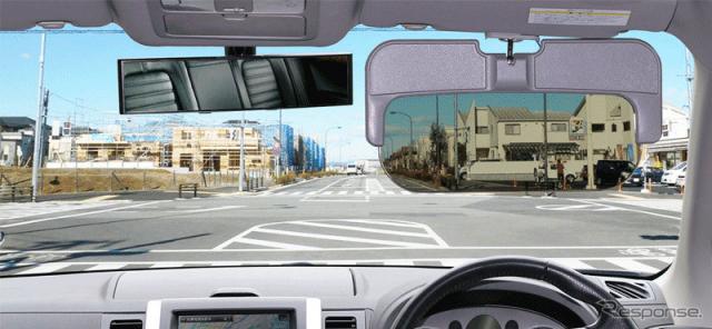 自動車用オート調光サンバイザー EEX-CARA01SUN