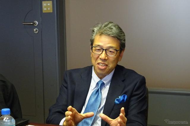 本田技術研究所 田辺正主任研究員〈撮影 池原照雄〉