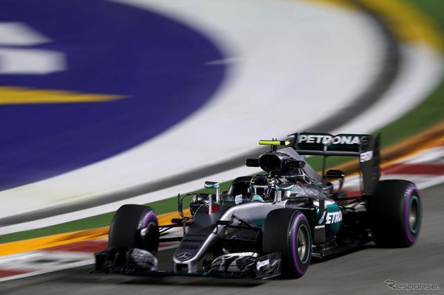 【F1シンガポールGP】フリー走行はロズベルグが最速タイム、レッドブル勢も好調