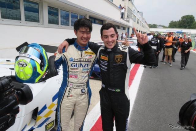根本悠生がイタリアGT選手権デビューで初優勝《画像 VSR Lamborghini Squadra Corse》